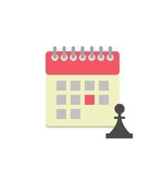 Flat style calendar icon vector image