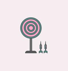 Flat target and darts eps 10 vector