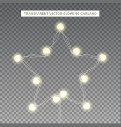 glowing garland in the shape of star vector image