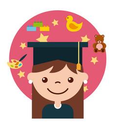 graduate student happy vector image