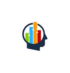 graph human head logo icon design vector image