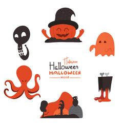 Halloween asset design elements vector