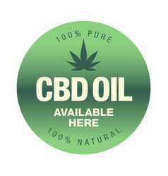 hemp cbd oil icon available here sign vector image