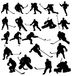 Ice hockey players vector