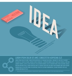 Idea card business background concept desig vector