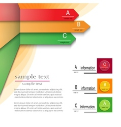 infographics template abc vector image