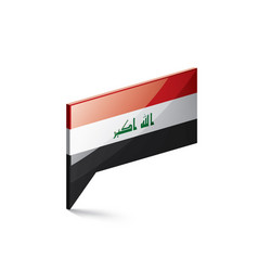 Iraqi flag on a white vector
