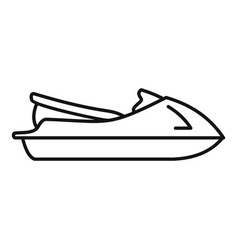 jet ski icon outline style vector image