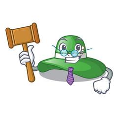 judge beach hat in the mascot closet vector image
