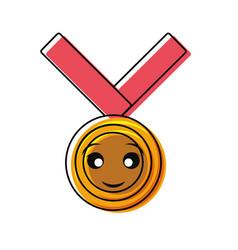 kawaii medal design vector image