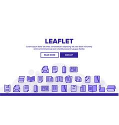 Leaflet paper landing header vector