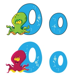 letter O octopus vector image
