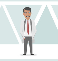 Medical staff doctor in a white lab coat vector