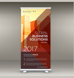modern red business rollup banner design vector image