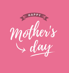 mothers-day-card-pink-background vector image