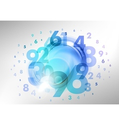 numbers blue vector image