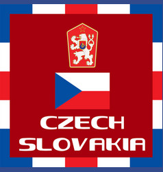 Official government ensigns of czech slovakia vector