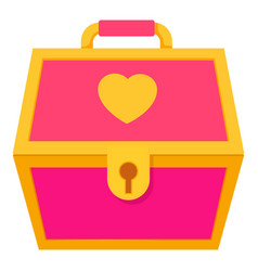 pink treasure chest for a princess icon vector image