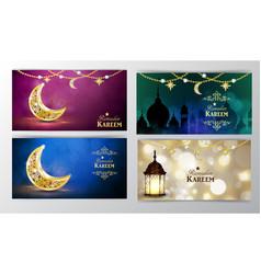 Ramadan kareem greeting background vector