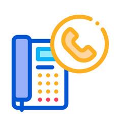Receiving calls administrator color icon vector