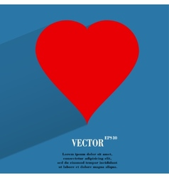 red heart web icon flat design vector image