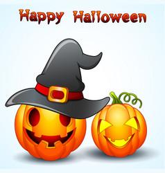 Set of halloween pumpkins cartoon vector