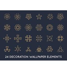 Set of minimal decoration background vintage vector image