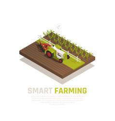 Smart farming composition vector