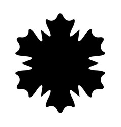 snowflake 5 0 vector image