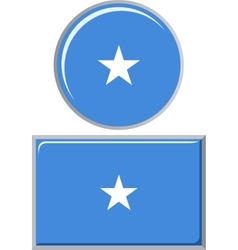 Somali round and square icon flag vector