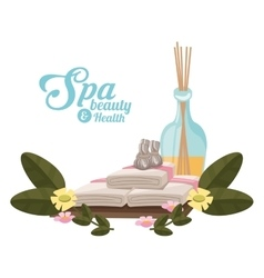 Spa beauty and health towel compress aroma vector