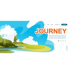 Summer natural landscape concept banner vector