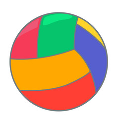 Toy ball icon on a white background color vector