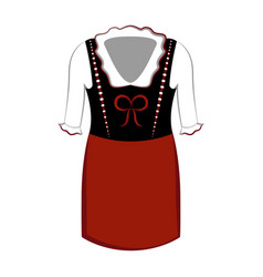 traditional oktoberfest dress icon vector image