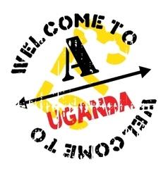 Uganda stamp rubber grunge vector