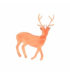 Watercolor deer on the white background aquarelle vector