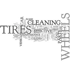 Wheel and tire maintenance for your suv text word vector