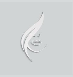Woman logo style beauty vector