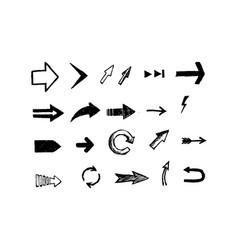 hand drawn arrows set eps vector image