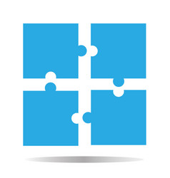 puzzle icon creative group symbol cooperation vector image