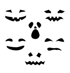 silhouette of scary smug smiles for pumpkin vector image vector image