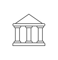 government building outline icon vector image vector image