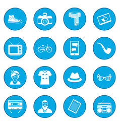 hipster style icon blue vector image