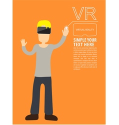 Man wear VR playing vector image vector image