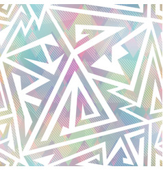 pastel color geometric seamless pattern vector image vector image
