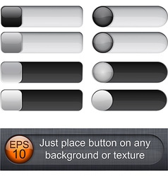 Rounded glossy sliders vector image vector image