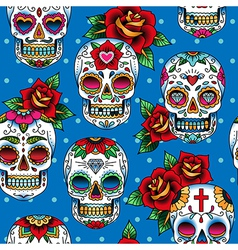 scull pattern vector image vector image