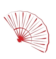 Sketched folding fan vector image vector image