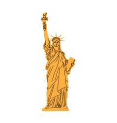 Statue of Liberty isolated on white vector image vector image