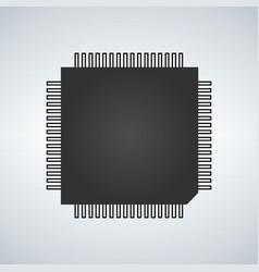 chip processor icon vector image
